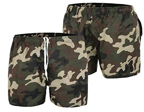 DEMONA Costume Uomo Ragazzo da Bagno Estate Mare Piscina Mimetico Militare Camouflage Boxer...