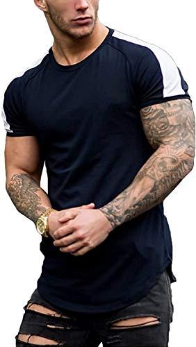 Coshow Camiseta deportiva para hombre, transpirable, de manga corta y cómoda.
