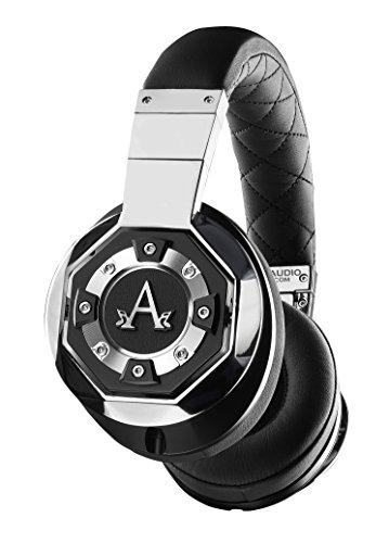 A-Audio A01 High Definition Headphones, Black/Liquid Chrome