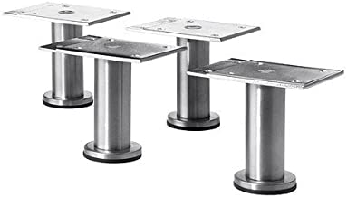 Ikea Capita Beine aus Edelstahl; verstellbar; 8-9cm
