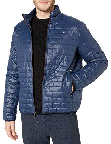 Tommy Hilfiger Men's Ultra Loft Sweaterweight Quilted Packable Jacket, Navy, Small