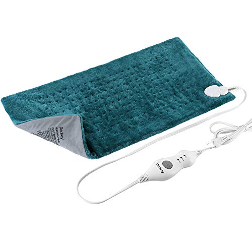 Deckey Neck Heating Pad, 18 x 25 inch,Moist Heat Therapy, Heating Pad for Neck and Shoulders, 3 Temperature Settings, Anti-overheating Automatic Power Off, Machine Washable