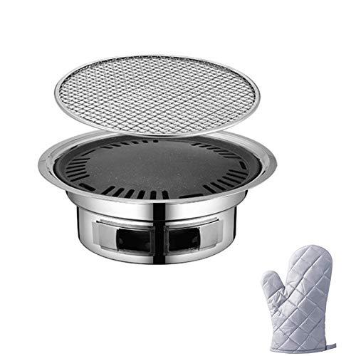 Parrilla de Barbacoa de carbón portátil, Parrillas de Mesa, Estufa de calefacción, Calentador de Caja de Barbacoa con Aislamiento térmico de Restaurante Comercial
