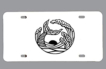 Mermaid Waves Vanity Plate Front License Car Tag