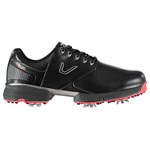 Slazenger Herren V300 Golfschuhe Soft Spikes Schwarz 42