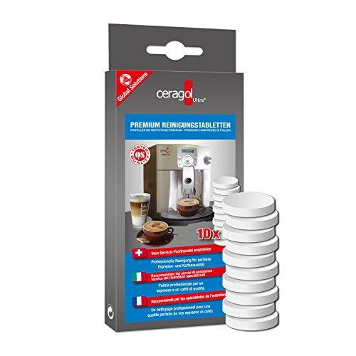 ceragol ultra Premium Reinigungstabletten für alle Kaffeevollautomaten, 10 Stück