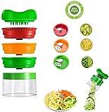 Cheap4uk - Espiralizador de verduras de mano, 3 cuchillas en espiral, cortador de espaguetis para zanahoria, pepino, patata,...