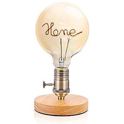 Table Lamp Desk Lamp Industrial Nightlight Edison Lightbulb Edison Bulbs Vintage Beside Lamp for Bedroom and Home Decor