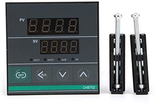 MUKUAI31 CHB702 Temperature Controller, Thermostat Intelligent Digital Display Temperature Controller Relay/SSR Output AC180-240V 0-400℃ DIY