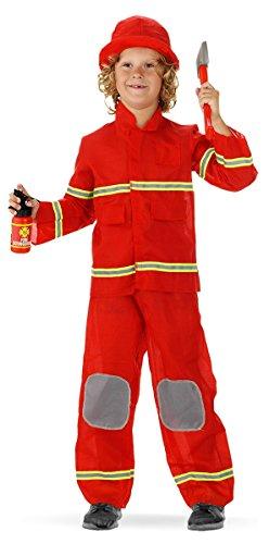 Folat 21878écran Pompiers pour Enfant Uniforme (3Pièces, Taille 98–116, Petite Taille)