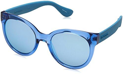 Havaianas Noronha Occhiali da Sole, Blue Aqua, 52 Donna
