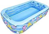 Lucsiky Piscina Inflable Swim Center Piscina Familiar Piscina Familiar NiñosFamilia Adultos para jardín al Aire Libre Patio Trasero Fiesta de Agua de verano-200cm