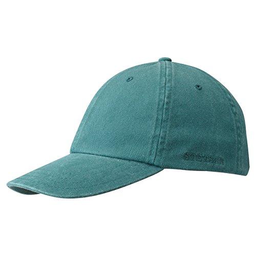Stetson Rector Basecap - Cap für Damen/Herren - Sonnenschutz-Cap aus Baumwolle (UV-Schutz 40+) - Baumwollcap größenverstellbar (55-60 cm) - Baseballcap Sommer/Winter Petrol One Size