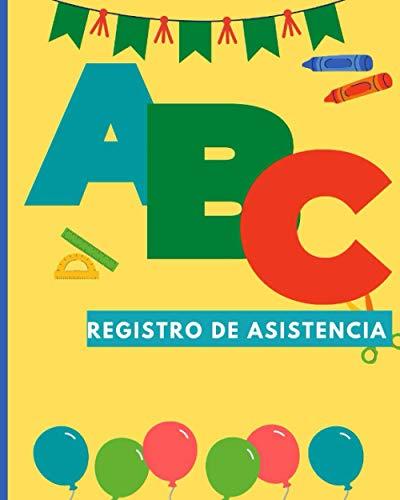 registro de asistencia: Lista de asistencia para 36 personas 120 páginas I
