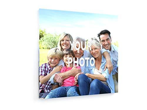 weewado Foto-Leinwand - Leinwandbild mit eigenem Bild, Foto, Text gestalten - Personalisierte Geschenke drucken 20x20 cm Leinwandbild auf Keilrahmen