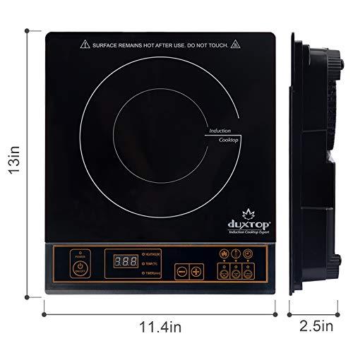 Product Image 8: Duxtop 1800W Portable Induction Cooktop Countertop Burner, Gold 8100MC/BT-180G3