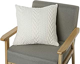 """NVEOP Cable Knitted Decorative Throw Pillow Cover, Soft & Cozy Decorative Cushion Cover Case for 20""""x 20"""" or 19"""" x 19"""" Thr..."""