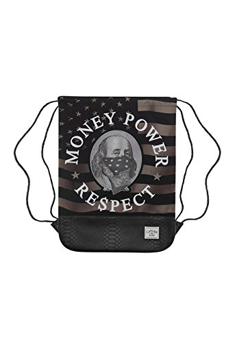 Cayler & Sons Gymbag MONEY POWER RESPECT GYMBAG Black Gold White