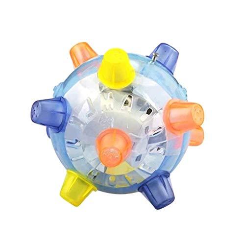 Silverdee Música Colorido Flash Intermitente Baile eléctrico Balón de fútbol Croquet Salto Bola de Salto de ángulo múltiple Juguete