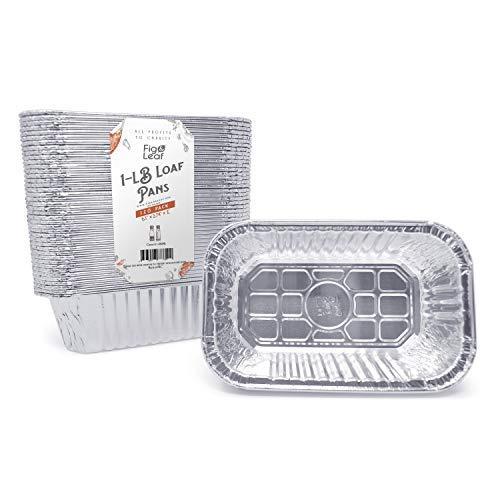 Fig amp Leaf 120 Pack Premium 1LB Bread Loaf Baking Pans l Mini 6quot x 37quot x 2quot l Heavy Duty 28 Gauge l Disposable Aluminum Foil Oven Safe Sturdy 1Pound Small Bread Tin