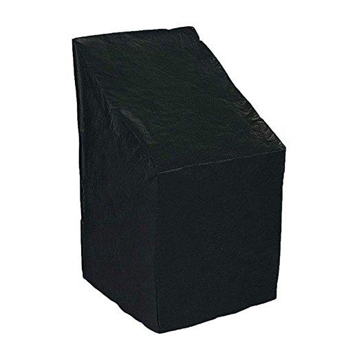 QEES Funda protectora contra el polvo para silla con correa cerrada inferior, resistente a prueba de moho y resistente al agua para muebles de jardín al aire libre YZZ07, plástico, negro, Style 1