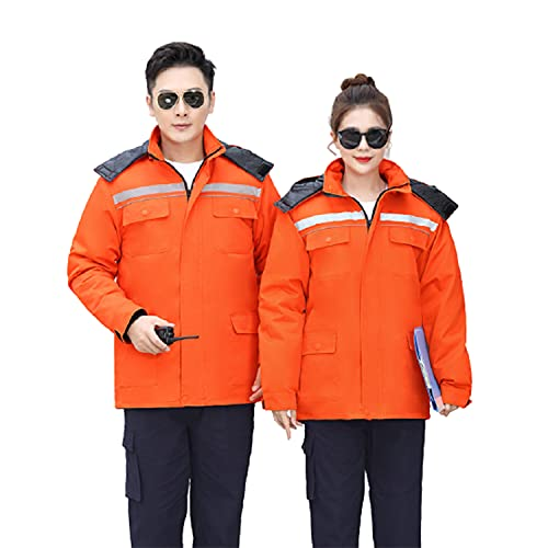 Unisex Thick Work Overalls Winter Long Sleeve Coveralls Dust-Proof Work Clothes Auto Repair