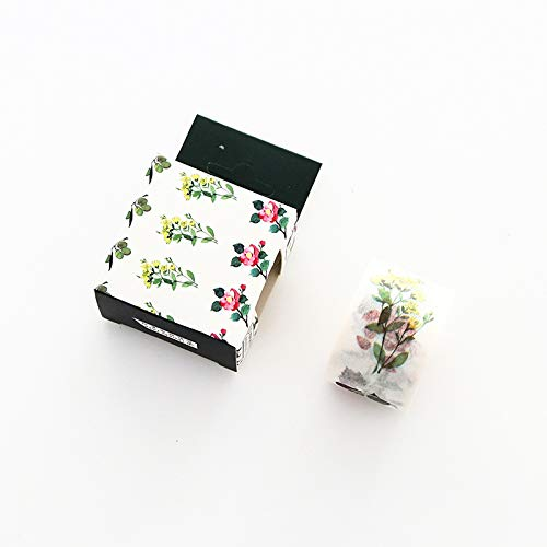YFB Hand Konto und Papierband Farbe niedlich Druckband Hand Konto Material Lippenstift Aufkleber Tagebuch Dekoration Aufkleber Medium-Beauty-Pflanze