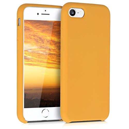 kwmobile Cover compatibile con Apple iPhone 7/8 / SE (2020) - Custodia in silicone TPU - Back Case protezione cellulare giallo zafferano