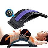 Back Stretcher, Lumbar Back Pain Relief Device, Multi-Level Back Massager Lumbar, Pain Relief for Herniated Disc, Sciatica, Scoliosis, Lower and Upper Back Stretcher Support (Purple)