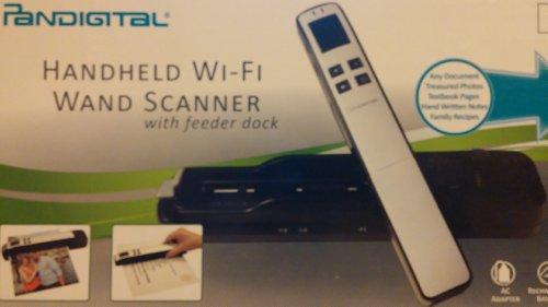 Fantastic Deal! Pandigital Handheld Wi-Fi Wand Scanner with Feeder Dock - S8X1103PU - Purple