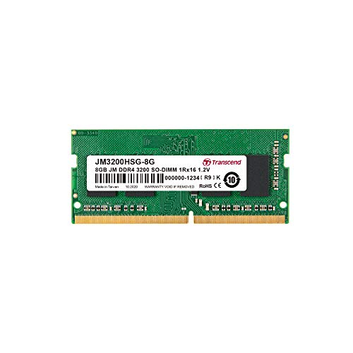 Transcend ノートPC用メモリ PC4-25600(DDR4-3200) 8GB 1.2V 260pin SO-DIMM 1Rx16 (1Gx16) CL22 無期限保...