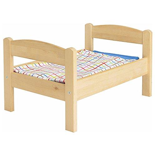 IKEA(イケア) DUKTIG 20167838 人形用ベッド ベッドリネンセット付き, パイン材, マルチカラー