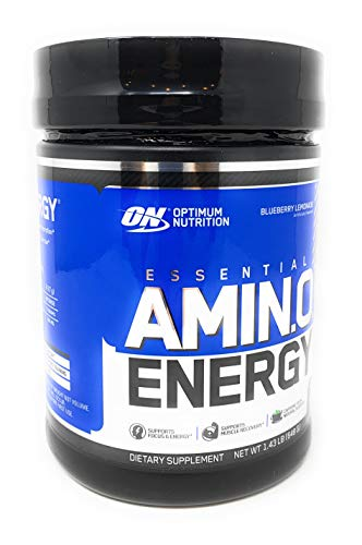 OPTIMUM NUTRITION Essential Amino Energy with Green Tea and Green Coffee Extract, Flavor: Blueberry Lemonade, 72 Servings