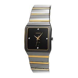 Rado Men's R10366761 Platinum Analog Black Dial Watch image