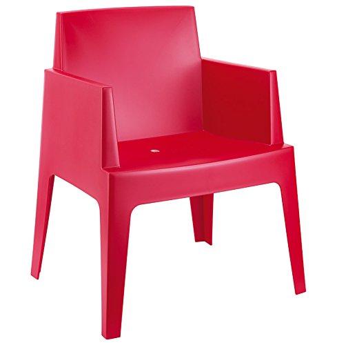 Alterego - Chaise design 'PLEMO' rouge en matière plastique