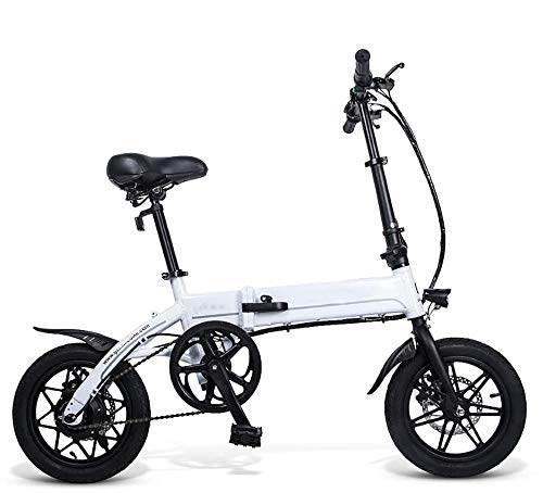 SHIJING 14 Pulgadas Plegable Energía Eléctrica Bicicleta de Asistencia eléctrica de Bicicletas...