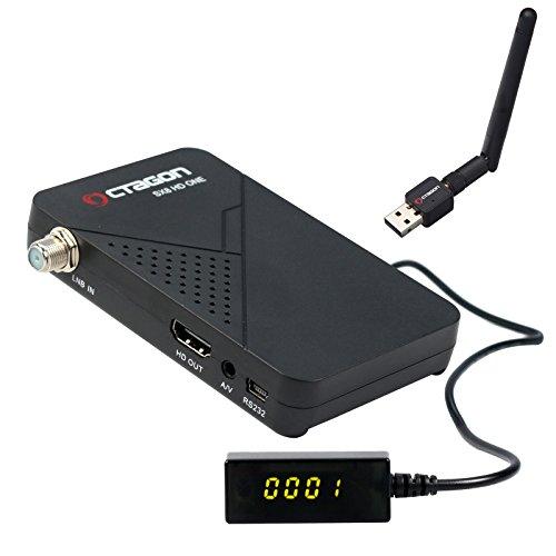 Octagon SX8 Mini CA HD Full HD digitaler Multistream Satelliten-Receiver WLAN (HDTV, DVB-S2X, HDMI, 2X USB 2.0, 1080p, IPTV, IR Extender) [vorprogrammiert für Astra & Türksat] – schwarz