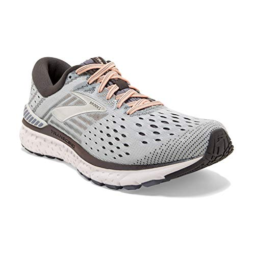 Brooks Damen Transcend 6 Laufschuhe, Grau (Grey/Pale Peach/Silver 067), 42 EU
