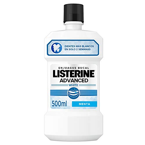 Listerine Enjuague Bucal, Blanqueador Avanzado 500 ml