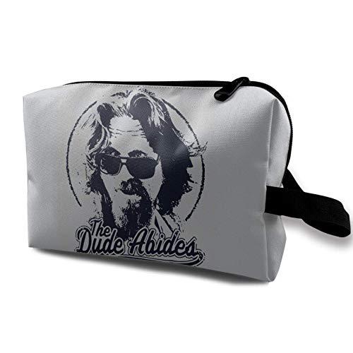 XCNGG Bolsa de cosméticos de viaje Bolsa de cosméticos para damas The Dude Abides, Bolsa de cosméticos impermeable, Bolsa de almacenamiento con cremallera