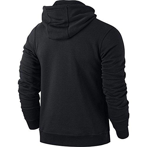 Nike Herren Kapuzenpullover Team Club, Schwarz (Black/White), M - 4