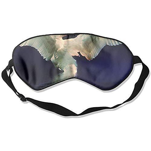 Slaap oogmasker zwan zwemmen zachte oogband verstelbare hoofdband eyeshade Travel Eyepatch