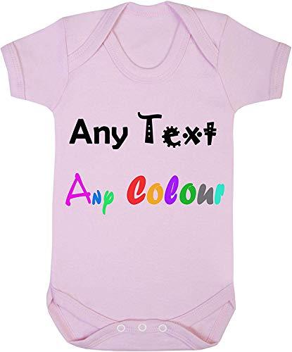 n'importe Quel Text Couleur Nom Message 0-24 Combinaison Grenouillère Bébé Cadeau Drôle Garçons Filles - Rose, 18-24 Months