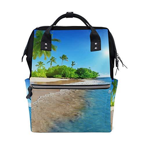 Sac à Dos Multifonctionnel Sac à Dos idéal Garderie Tropical Sea Coast Sunshine Travel pour Femmes Filles