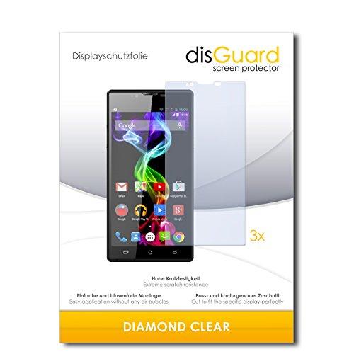 disGuard 3 x Schutzfolie Archos 55 Platinum Bildschirmschutz Folie DiamondClear unsichtbar