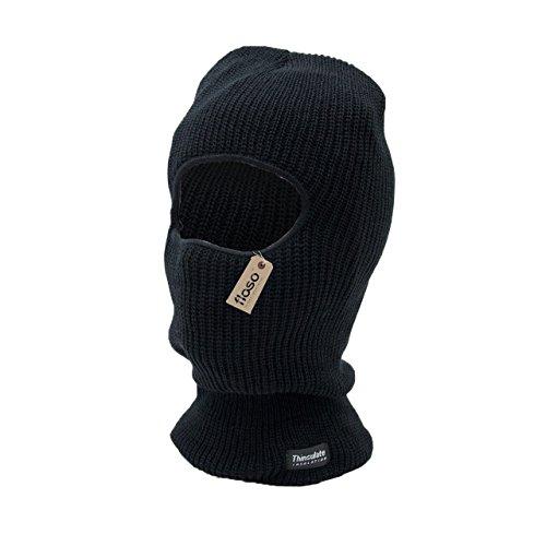 Floso - Cagoule Thermique Thinsulate - Homme (Taille Unique) (Noir)