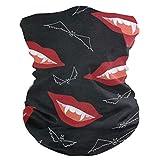 Halloween Seamless Pattern Smiling Vampire Lips Face Mask UV Sun Mask Dust Wind Neck Gaiter Magic Bandana