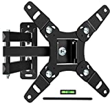 Full Motion TV Wall Mount Bracket for 13-45 Inch TV JUSTSTONE Wall TV Mount Swivel Durable Arms Anti- Glaring Min VESA 75x75mm(3'x3'), Max VESA 200x200mm(8'x8') up to 55LBS