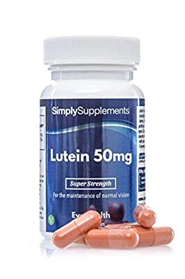 SimplySupplements Super Strength Lutein 50mg|For Better & Healthier Vision| 60 Capsules