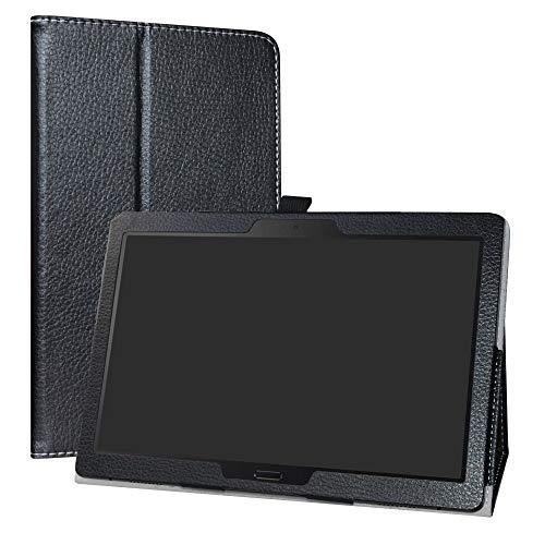 """LiuShan Lenovo Smart Tab P10 / M10 hülle, Folding PU Leder Tasche Hülle Case mit Ständer für 10.1"""" Lenovo Tab M10 HD (TB-X505F,TB-X605F) / Smart Tab P10(TB-X705F) Tablet,Schwarz"""